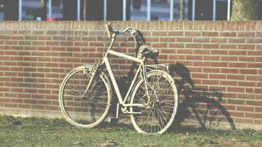 bicycle bike brickwall broken